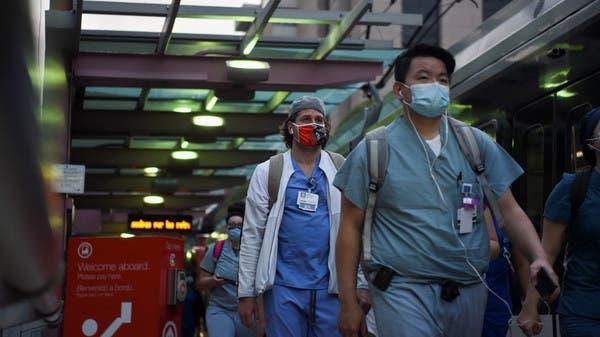 Us Reports Record 65 551 New Coronavirus Cases In 24 Hours Johns Hopkins Tally Al Arabiya English