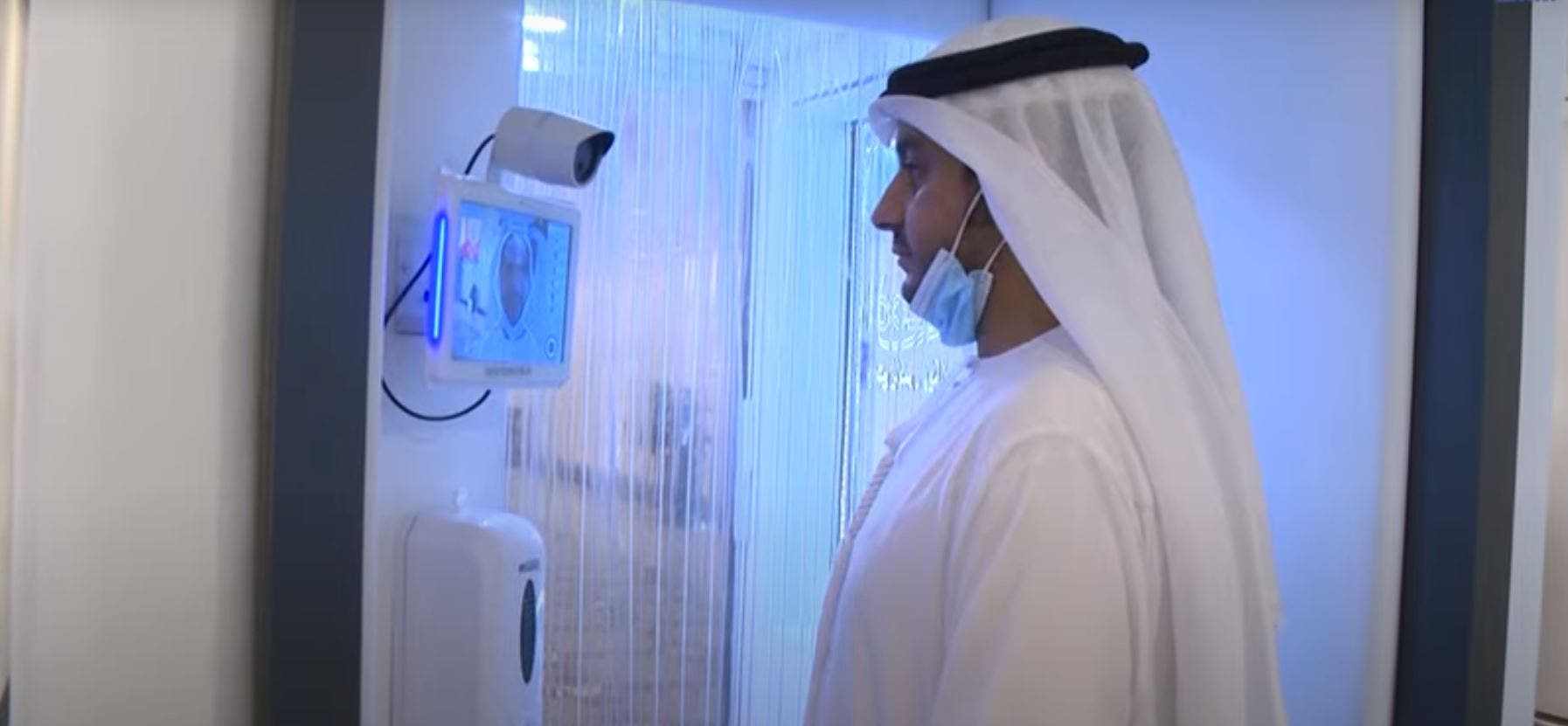 Coronavirus precautionary measures at Abu Dhabi International Airport, UAE. (Screengrab/WAM)