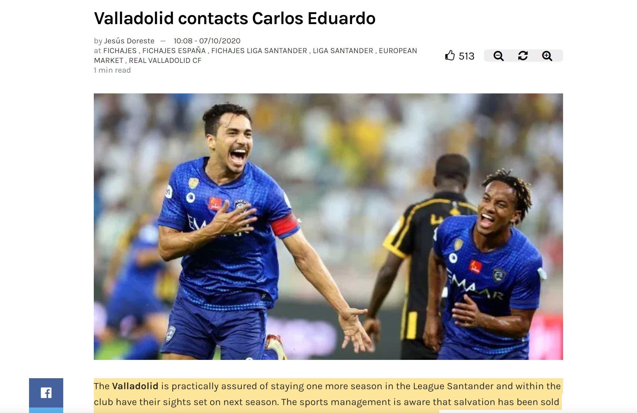 صورة ضوئية من الصحيفة الإسبانية