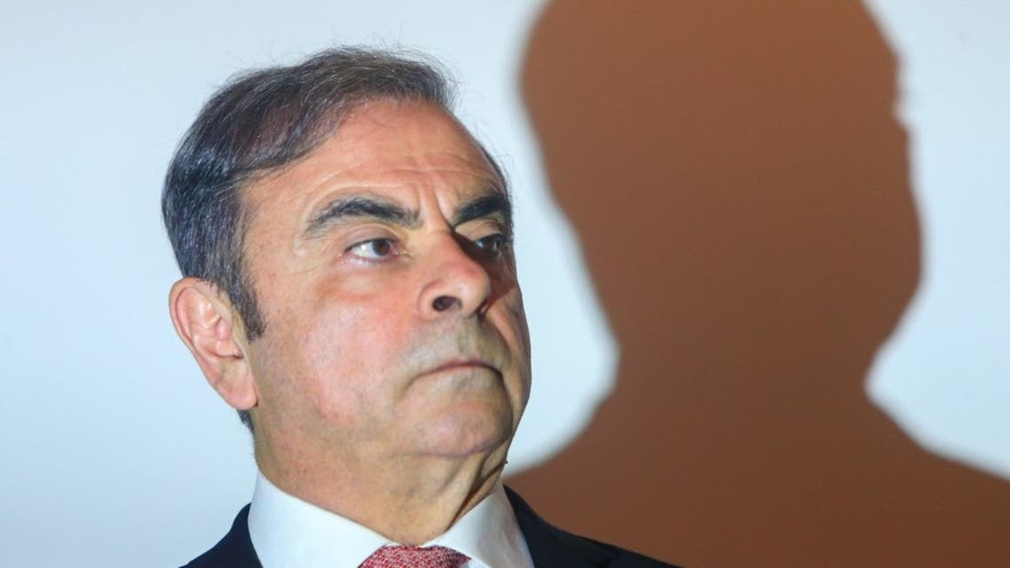 Former Nissan boss Carlos Ghosn at the Lebanese Press Syndicate in Beirut on January 8, 2020. (AFP)
