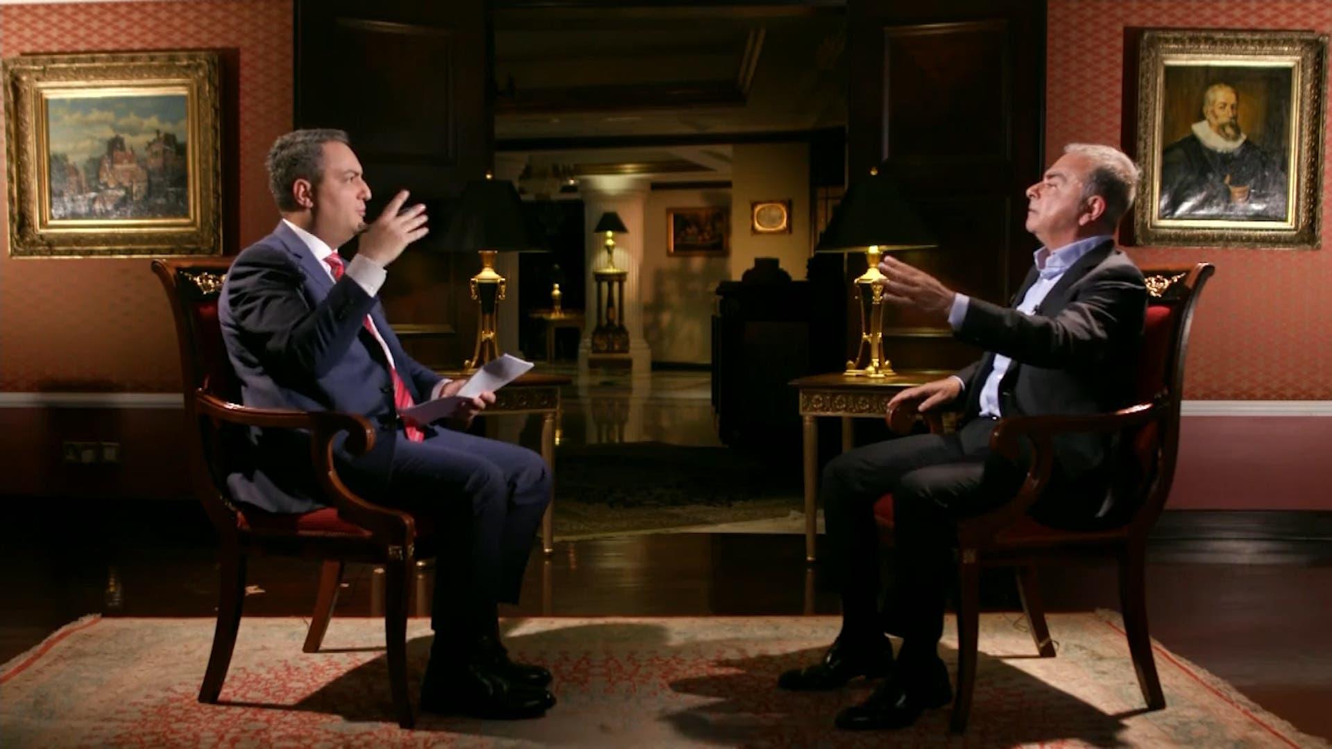 Former Nissan boss Carlos Ghosn in an exclusive interview with Al Alrabiya. (Al Arabiya)