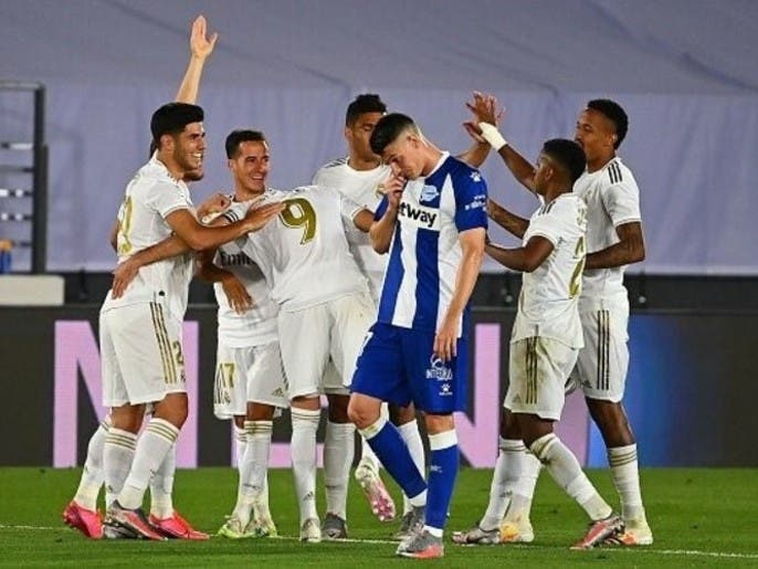 پیروزی رئالمادرید در هفته سیوپنجم لالیگا مقابل آلاوس
