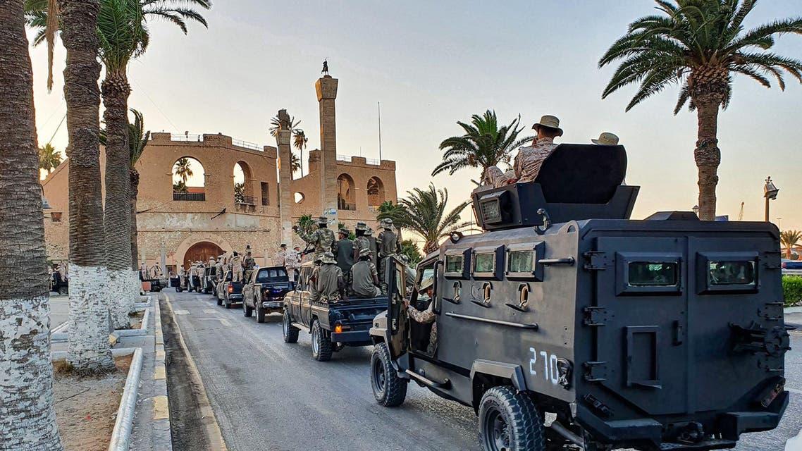 طرابلس میں طاقت کا مظاہرہ