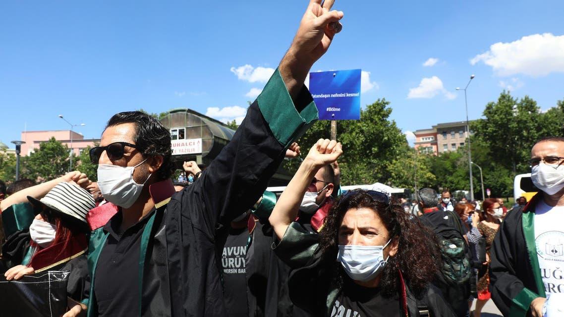 ترکی وکلاء احتجاج