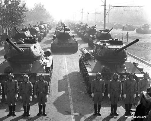 صورة لعدد من قوات جيش التحرير الشعبي الصيني