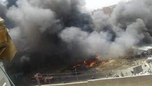 حريق ضخم يلتهم سوقا شعبيا في مصر والخسائر بالملايين