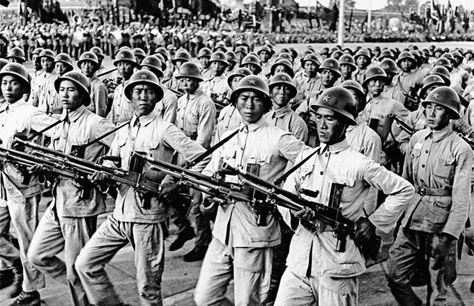 جانب من قوات جيش التحرير الشعبي الصيني