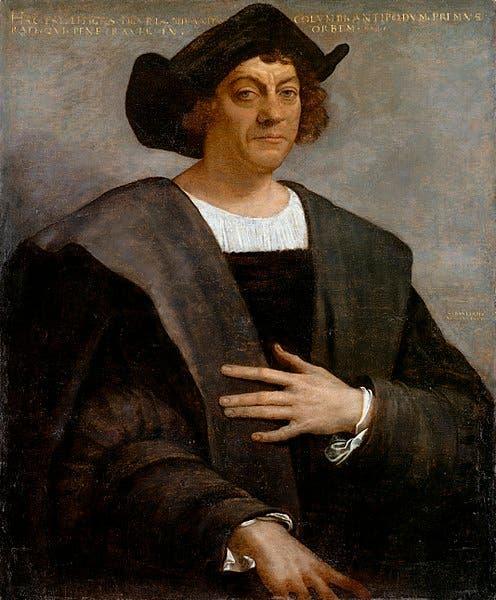 لوحة تجسد شخصية كريستوف كولومبوس