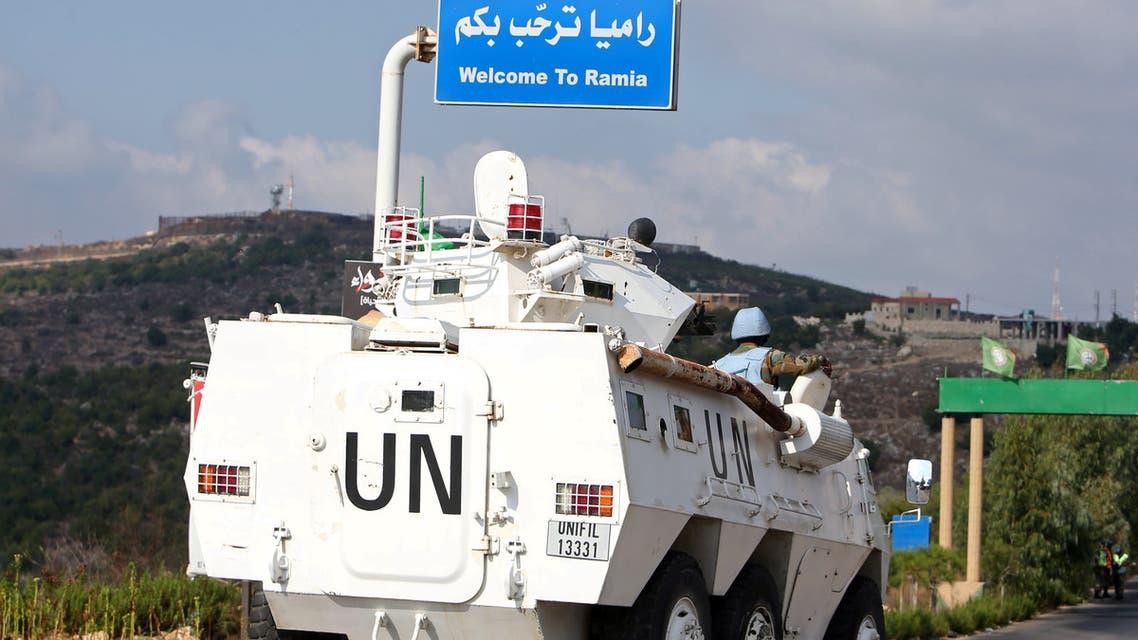 A UNIFIL patrol in Lebanon's Maroun Al-Ras near the border with Israel. (File Photo: Reuters)