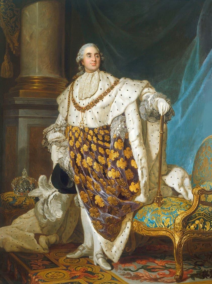 لوحة تجسد شخصية الملك الفرنسي لويس السادس عشر