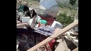 ميليشيات الحوثي تهدم 4 منازل بتعز.. وتطرد النساء بالقوة