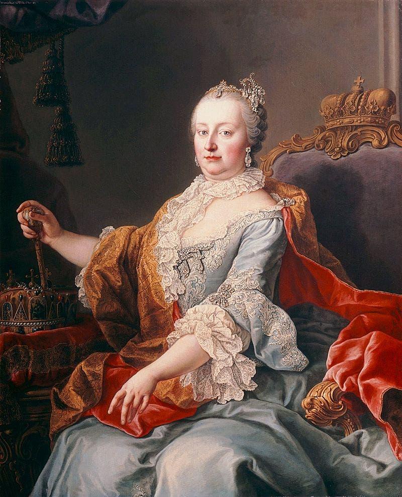 لوحة تجسد أرشدوقة النمسا ماريا تيريزا
