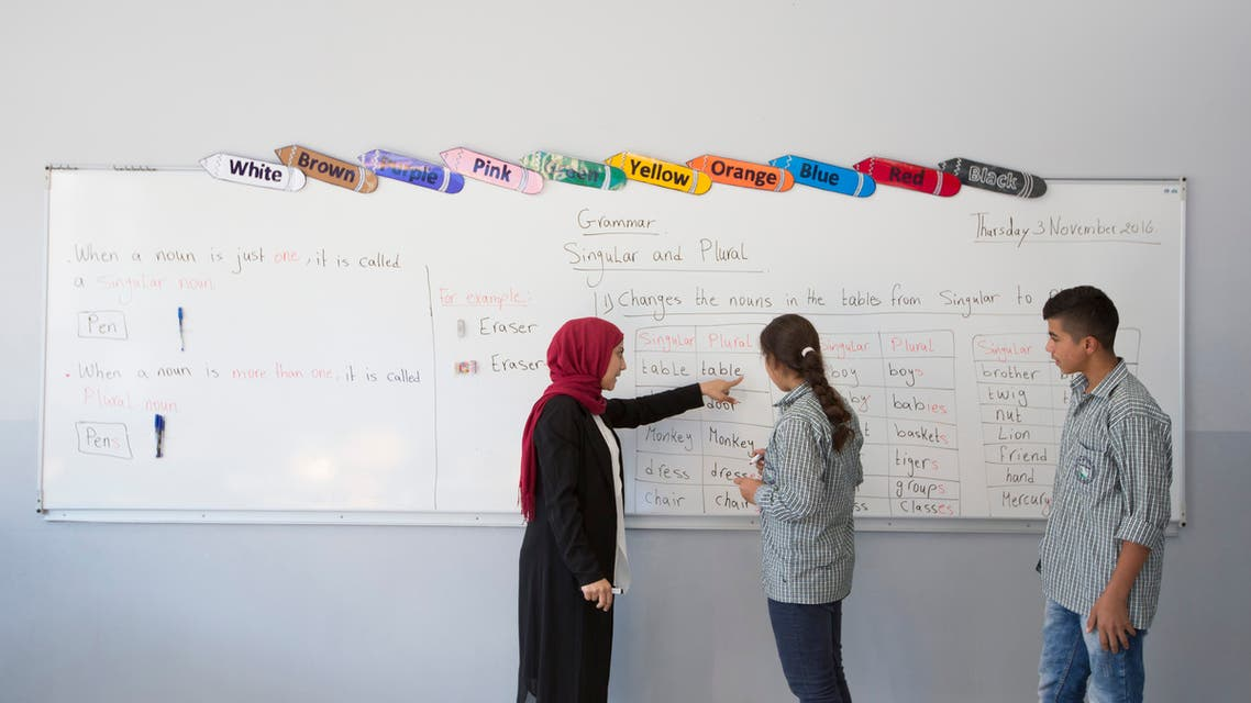 A classroom at an orphanage in Lebanon. (Credit: Islamic Orphanage.)