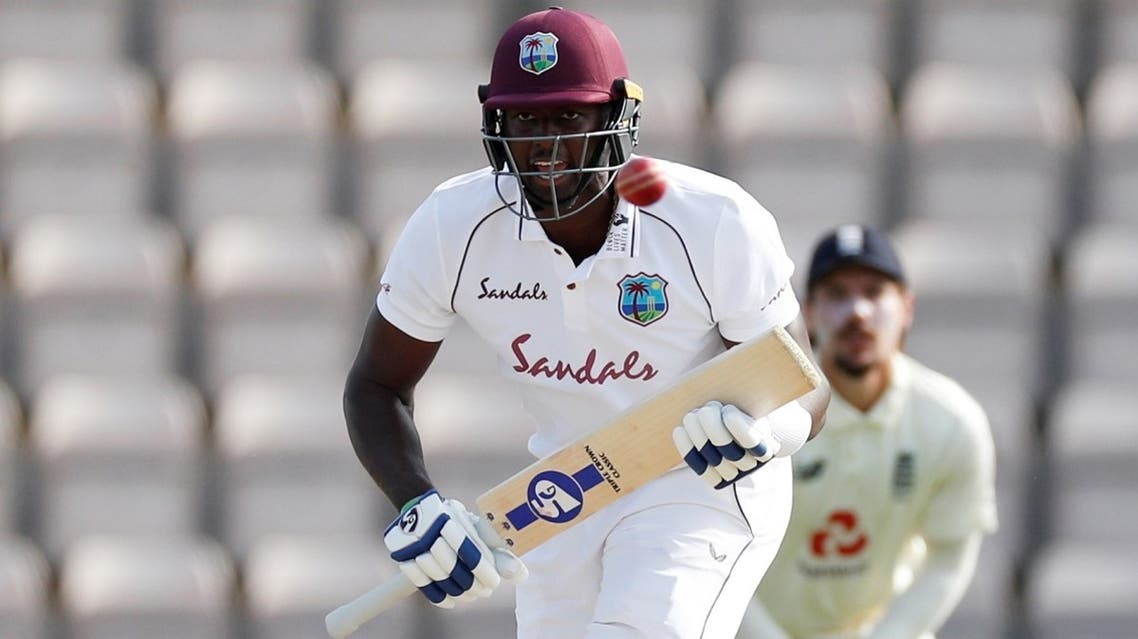West Indies' Jason Holder in action against England  in the first Test at Southampton, Britain, on July 12, 2020. (Reuters)