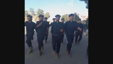 شاهد مرتزقة سوريين بزي الشرطة في ليبيا