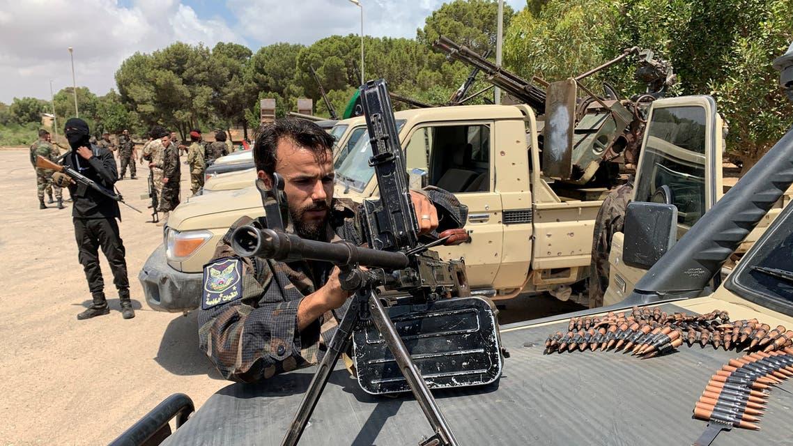 فصائل الوفاق في طرابلس استعدادا للتوجه إلى سرت (أرشيفية - رويترز)