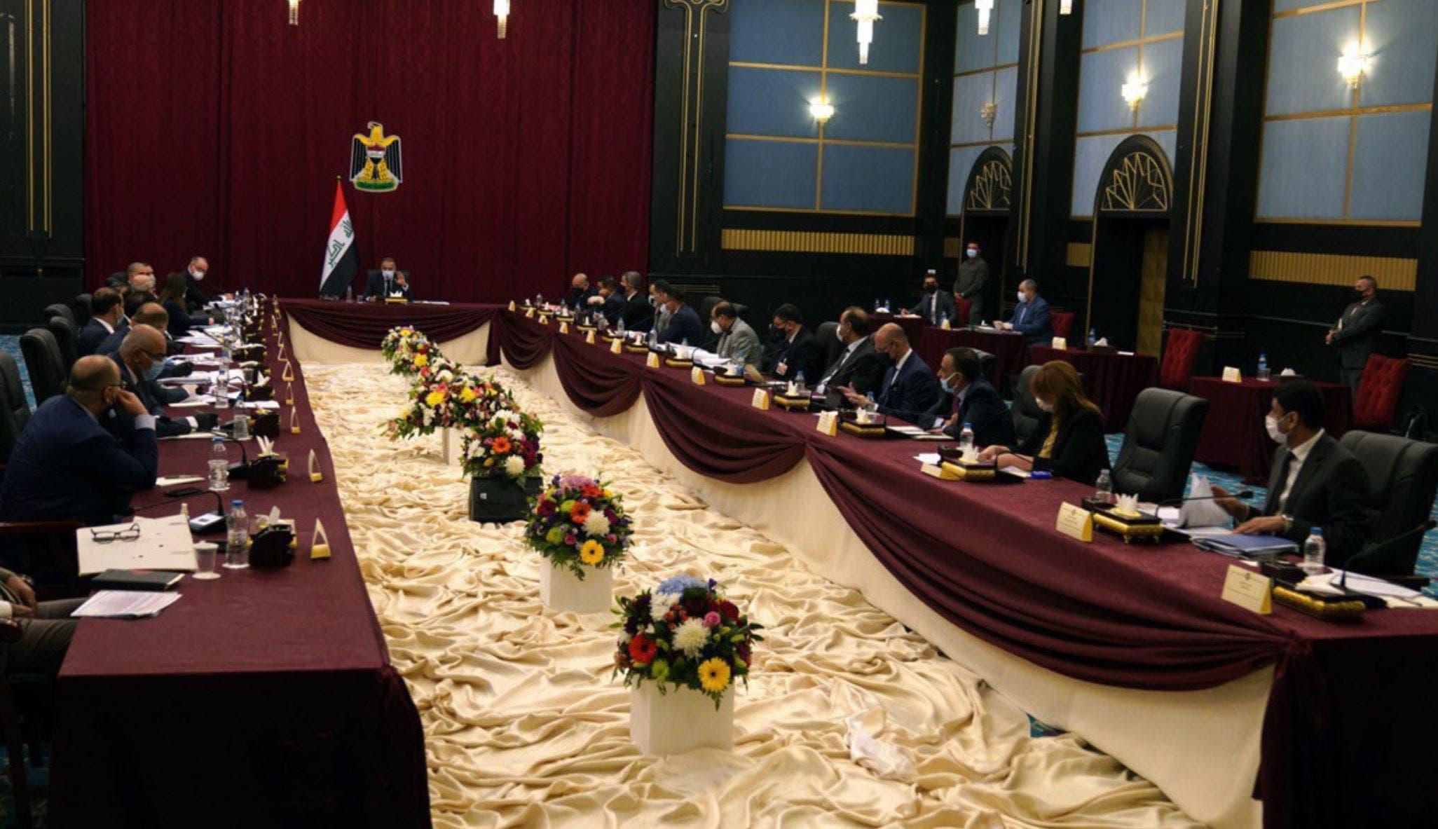 من جلسة مجلس الوزراء العراقي