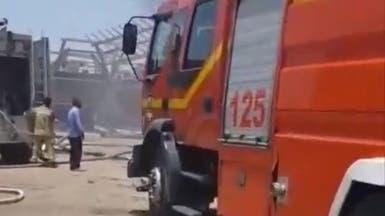 بالفيديو.. حريق ميناء بوشهر الإيراني يلتهم 7 سفن