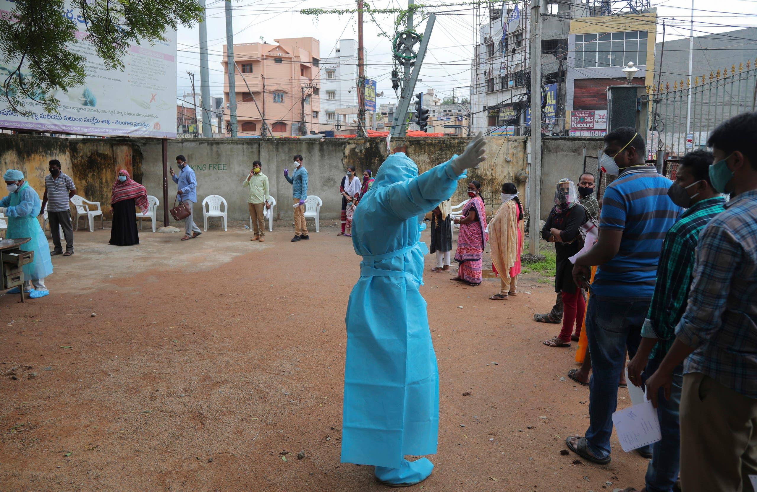 People are treated for coronavirus in Kashmir. (File photo: AP)