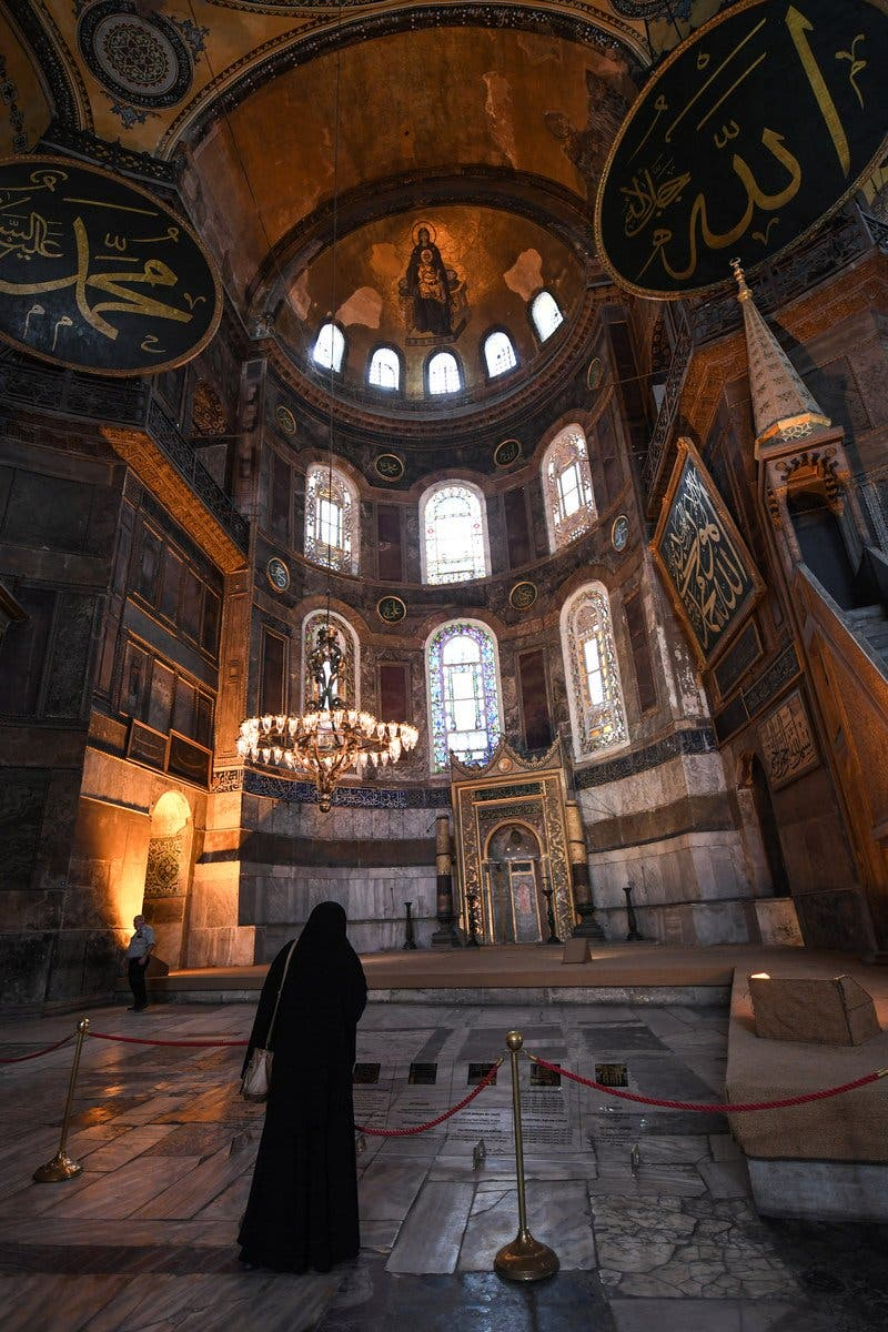 The Council of State, the country's highest administrative court which on July 2 debated a case brought by a Turkish NGO, cancelled a 1934 cabinet decision and ruled the UNESCO World Heritage site would be reopened to Muslim worshipping. (AFP)