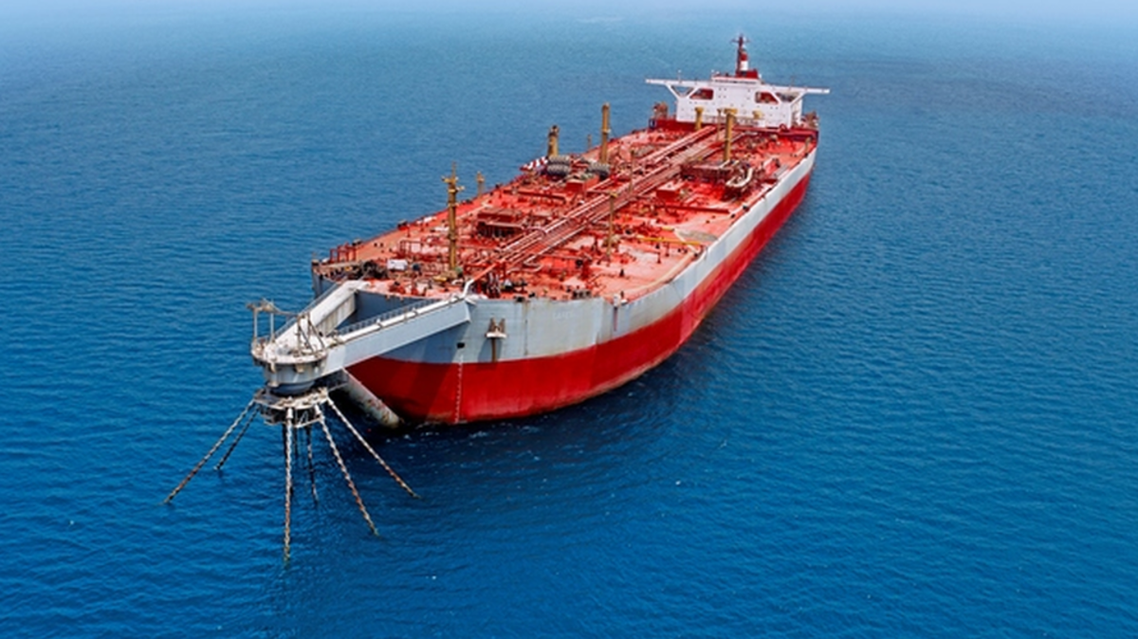 FSO Safer, the tanker holding 1.1 million barrels of crude oil in the Red Sea off Yemen. (Twitter)