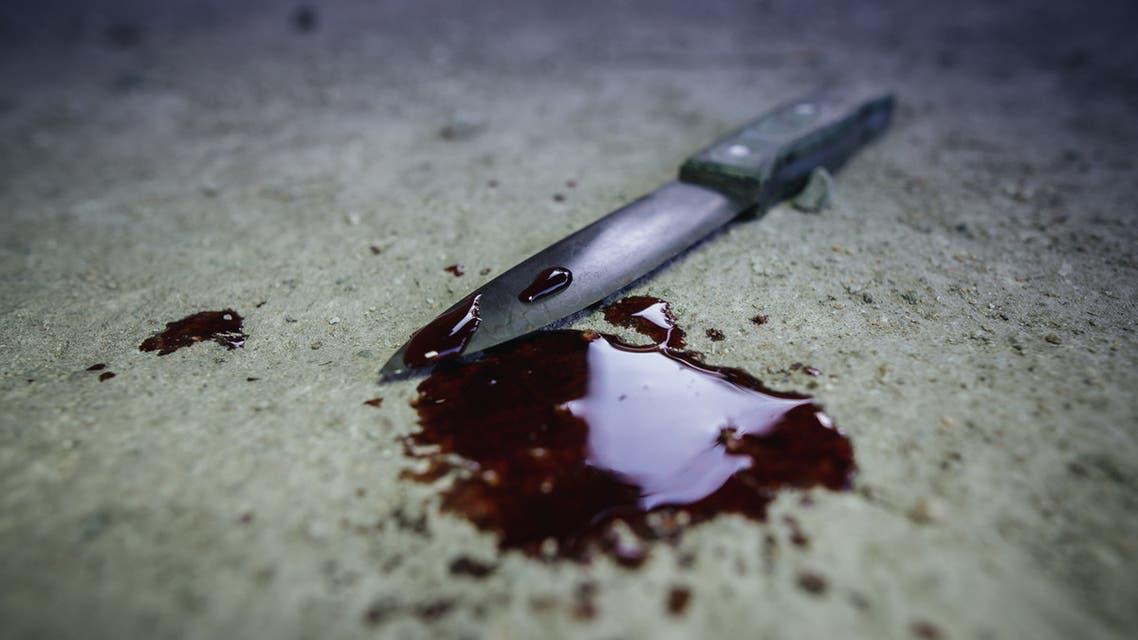 جريمة سكين دماء