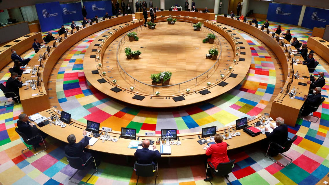 European Union leaders take part in the first face-to-face EU summit since the coronavirus disease (COVID-19) outbreak, in Brussels, Belgium July 17, 2020. (File Photo: Reuters)