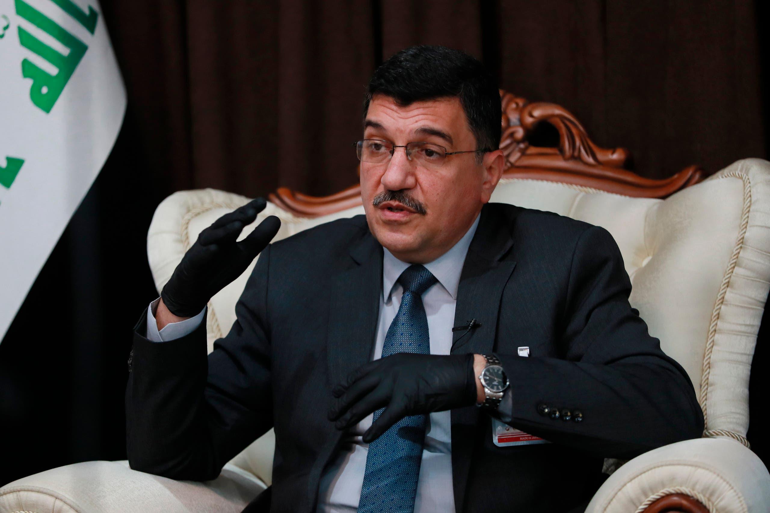 وزير الموارد المائية العراقي مهدي راشد الحمداني