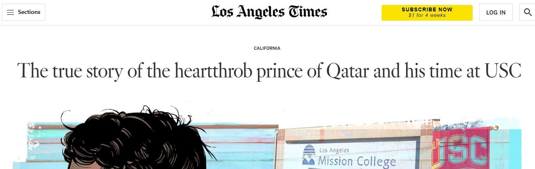 تقرير مفصل أفردته صحيفة لوس أنجلوس تايمز عن الأمير المراهق