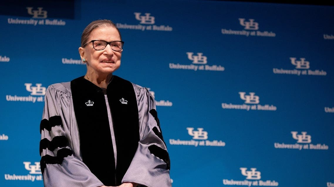 US Supreme Court Justice Ruth Bader Ginsburg speaks at University of Buffalo School of Law in Buffalo, New York. (File photo: Reuters)