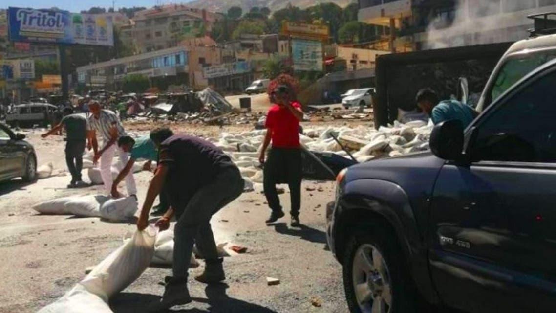 لبنان شاحنة