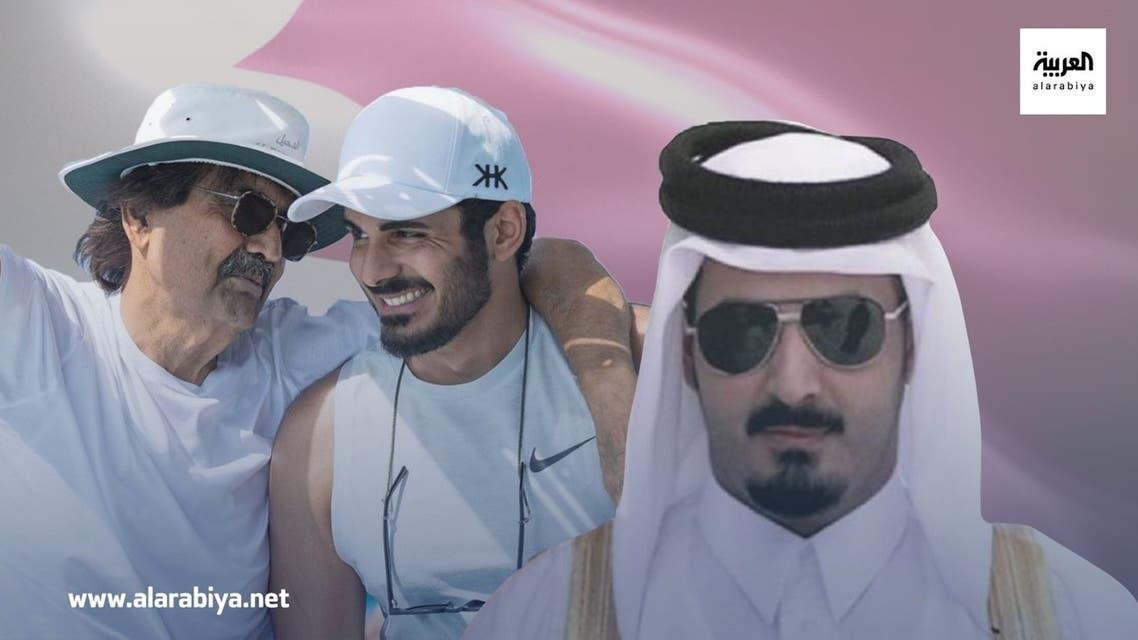 شقيق أمير قطر خالد بن حمد خليفة بن حمد وحمد بن خليفة خاص العربية نت