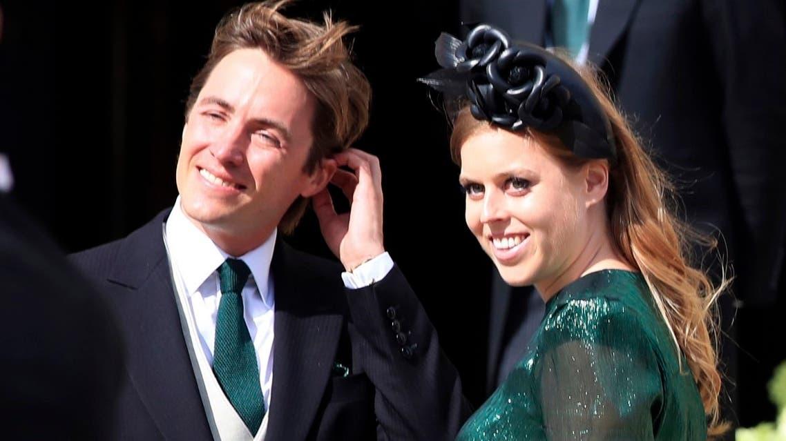AP_File photo of Britain's Princess Beatrice with Edoardo Mapelli Mozzi. (AP)