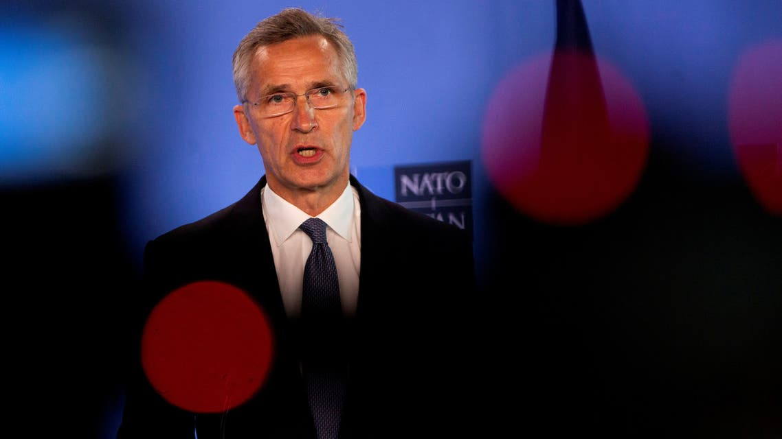 NATO Secretary General Jens Stoltenberg speaks at a joint news conference with U.S. Secretary of Defense Mark Esper at NATO headquarters in Brussels, Belgium June 26, 2020. Virginia Mayo/Pool via REUTERS