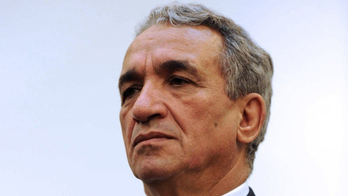 In this file photo taken on November 4, 2012, then Algerian minister of telecommunications Moussa Benhamadi, during a press conference in the capital Algiers. (AFP)