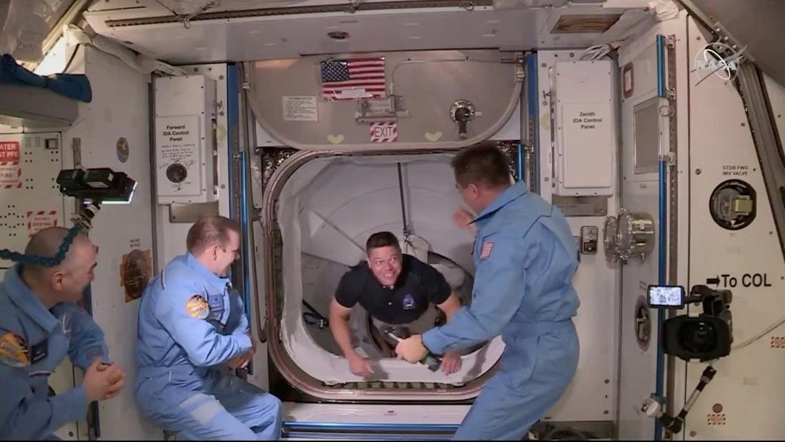 NASA astronaut Bob Behnken arrives at the International Space Station aboard SpaceX's Crew Dragon capsule in this still image taken from video. (File photo: Reuters)