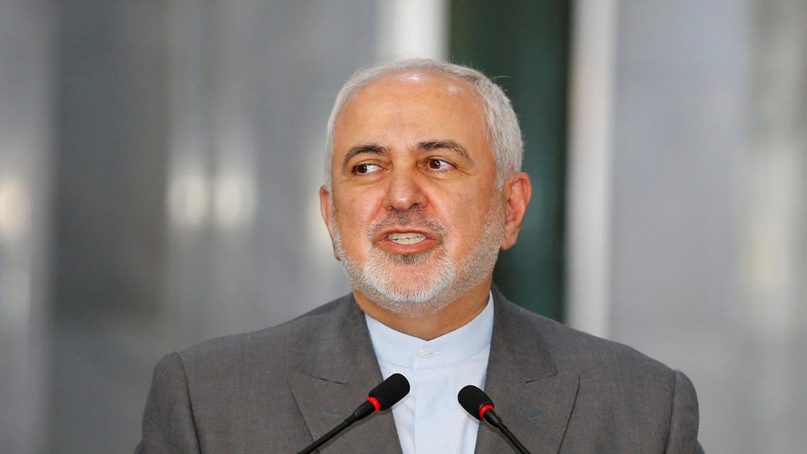 Iranian Foreign Minister Mohammed Javad Zarif during a visit to Baghdad, Iraq, July 19, 2020. (Reuters)