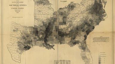 هذه الخريطة أسهمت في إجهاض العبودية بأميركا