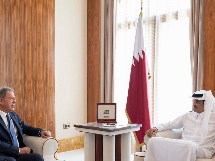 بعد أردوغان.. وزير الدفاع التركي في قطر