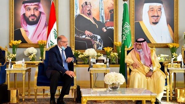 صور.. وفد عراقي برئاسة نائب رئيس الوزراء يصل الرياض