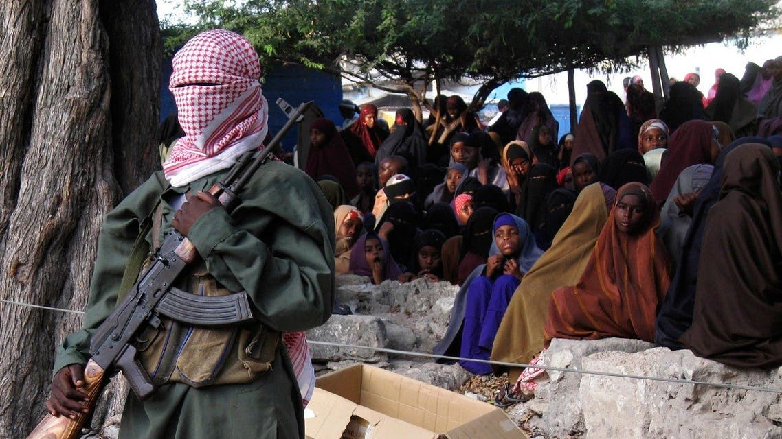 Somali al-Shabab fighter stands guard during a public flogging in Bula Marer. (File photo: Reuters)