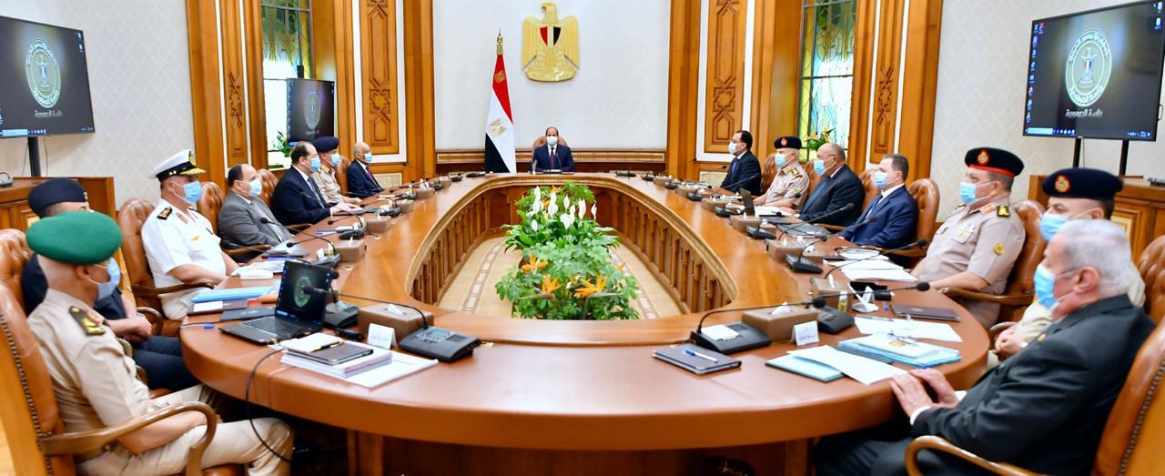 السيسي يترأس اجتماع مجلس الدفاع الوطني
