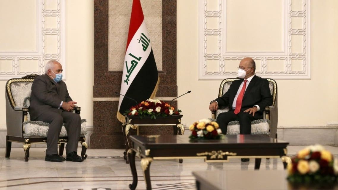رئيس العراق وظريف