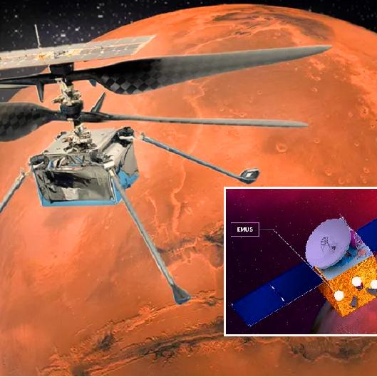 هليكوبتر تمضي مع مسبار الإمارات لتحلق في جو المريخ