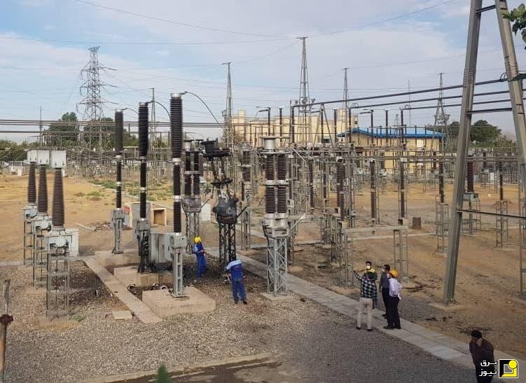 محطة عباس بور لتوليد الطاقة الكهربائية في مدينة أصفهان الإيرانية