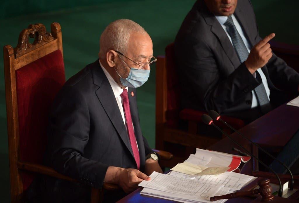 راشد الغنوشي في البرلمان التونسي - فرانس برس