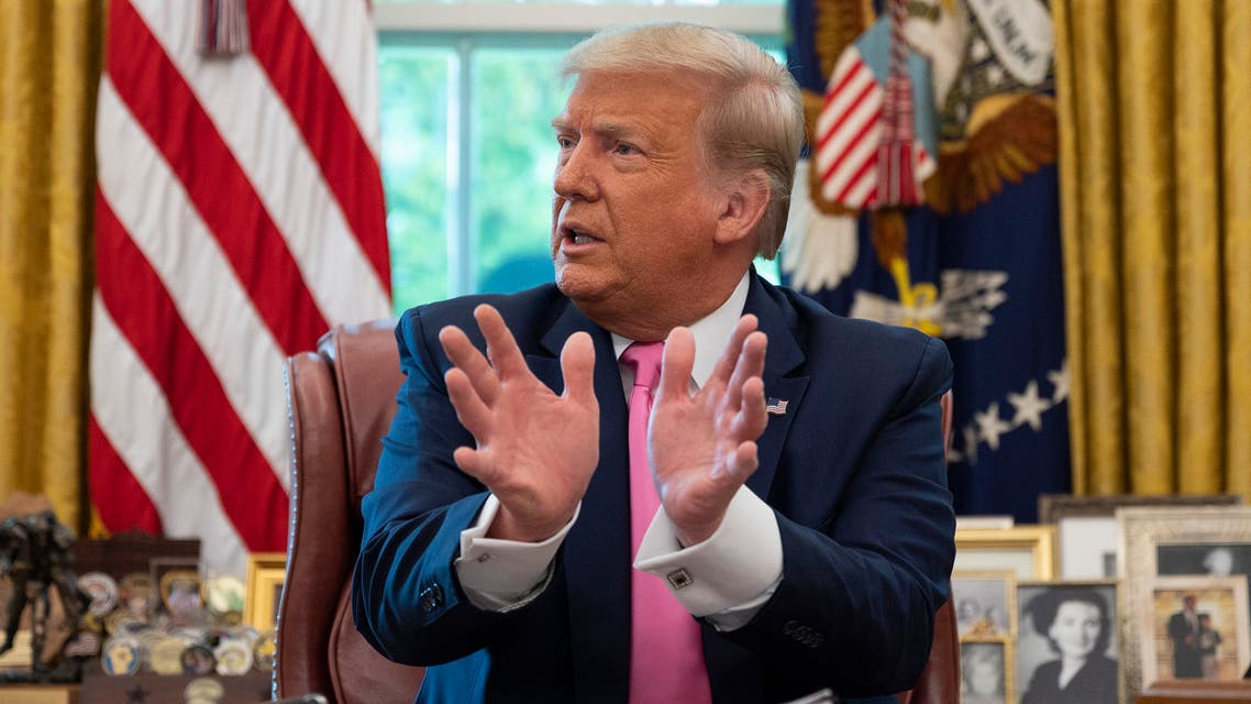 US President Donald Trump speaks at the White House in Washington, DC, on July 20, 2020.
