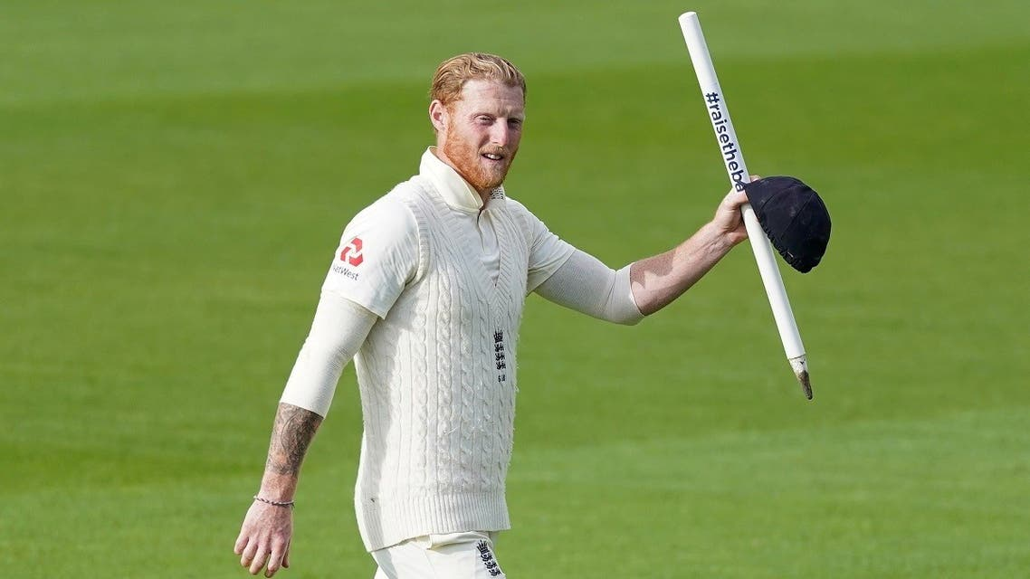 England's Ben Stokes celebrates after winning the test against West Indies at the Emirates Old Trafford, Manchester, Britain on July 20, 2020. (Reuters)