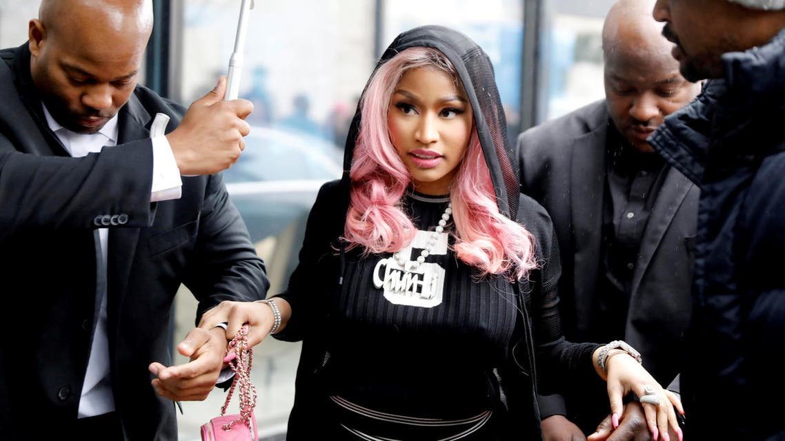 Nicki Minaj arrives at Tidal's office in Oslo, Norway March 4, 2019. NTB Scanpix/Ole Berg-Rusten/via REUTERS ATTENTION EDITORS - THIS IMAGE WAS PROVIDED BY A THIRD PARTY. NORWAY OUT. NO COMMERCIAL OR EDITORIAL SALES IN NORWAY.
