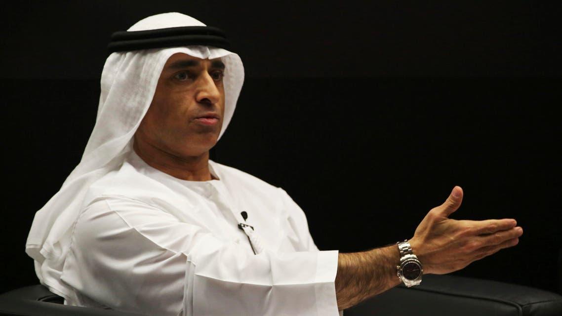 Emirati Ambassador to the US Yousef al-Otaiba gestures during an event in Abu Dhabi, United Arab Emirates on Jan. 25, 2018. (AP)